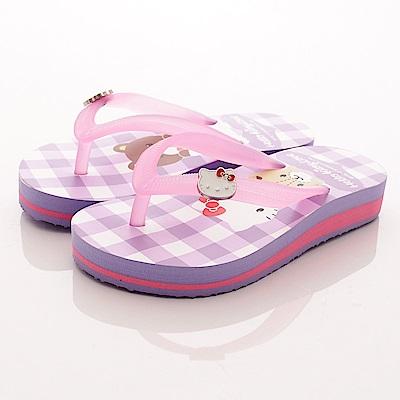 HelloKitty童鞋 厚底拖鞋 17940 紫 (中大童段)T1