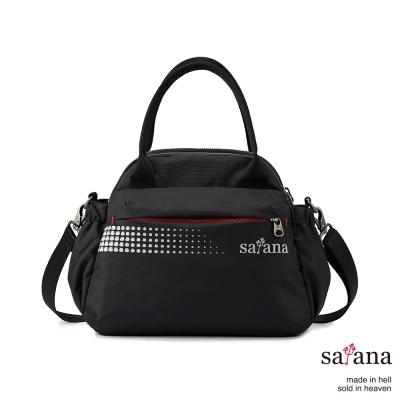 satana - 躍動城市手提包 - 黑色