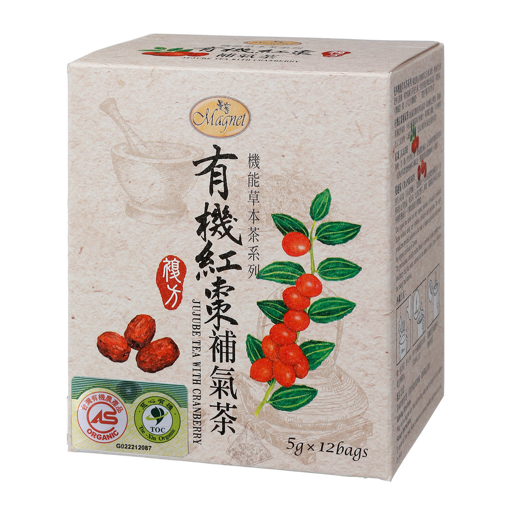 曼寧 有機紅棗補氣茶(5gx12入)
