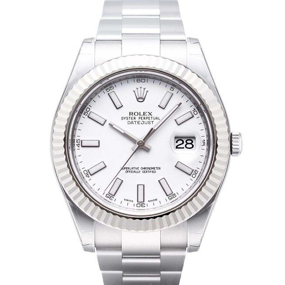 ROLEX 勞力士 Datejust II 116334 蠔式日誌型機械腕錶-白/41mm