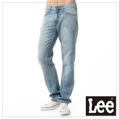 Lee 牛仔褲 724 中腰標準合身直筒淺貓鬚刷色 男 淺藍色