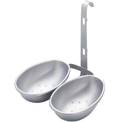 KitchenCraft 雙份掛式不沾煮蛋器(銀)
