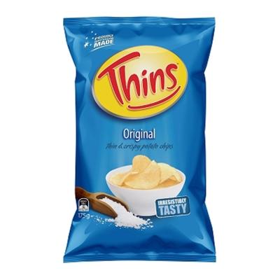 澳洲THINS 洋芋片海鹽原味口味 (175g)