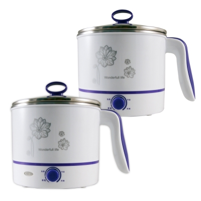 晶工1.5L多功能不鏽鋼電碗/美食鍋(超值二入組) JK-102