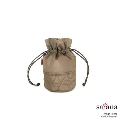satana -929 Ladies 復刻風尚 束繩迷你水桶包-亮棕色