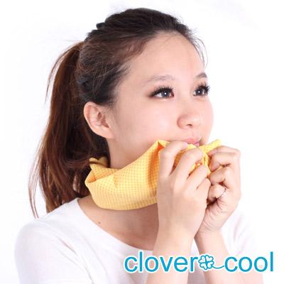 Clover瞬間涼感多用途冰涼巾(領巾)-萊姆黃