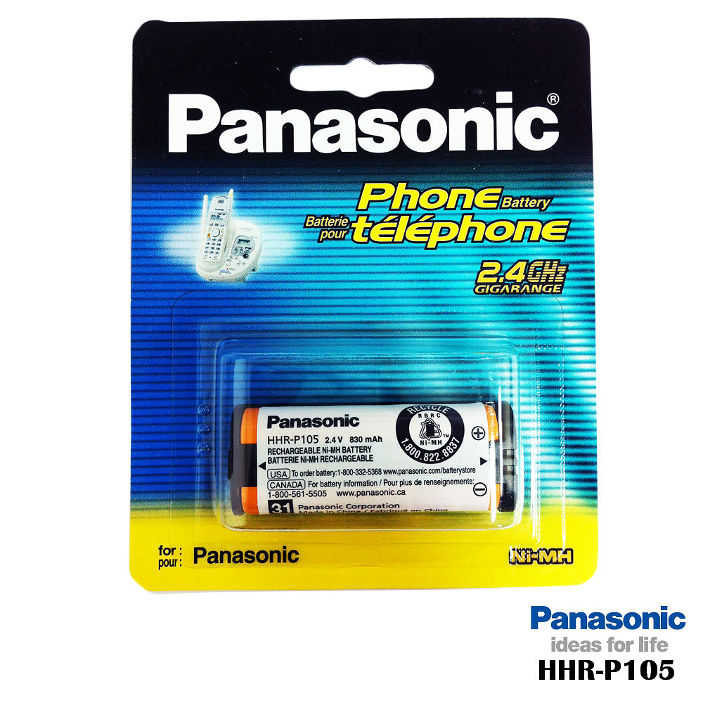 國際牌 DECT電話專用 原廠電池 HHR-P105
