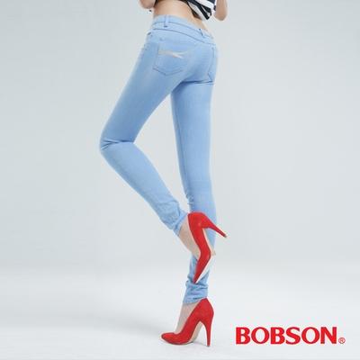 BOBSON 大彈力緊身牛仔褲(JEGGING)-冰藍