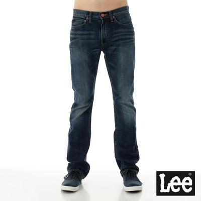 Lee 牛仔褲 724 中腰標準直筒-男款-中藍