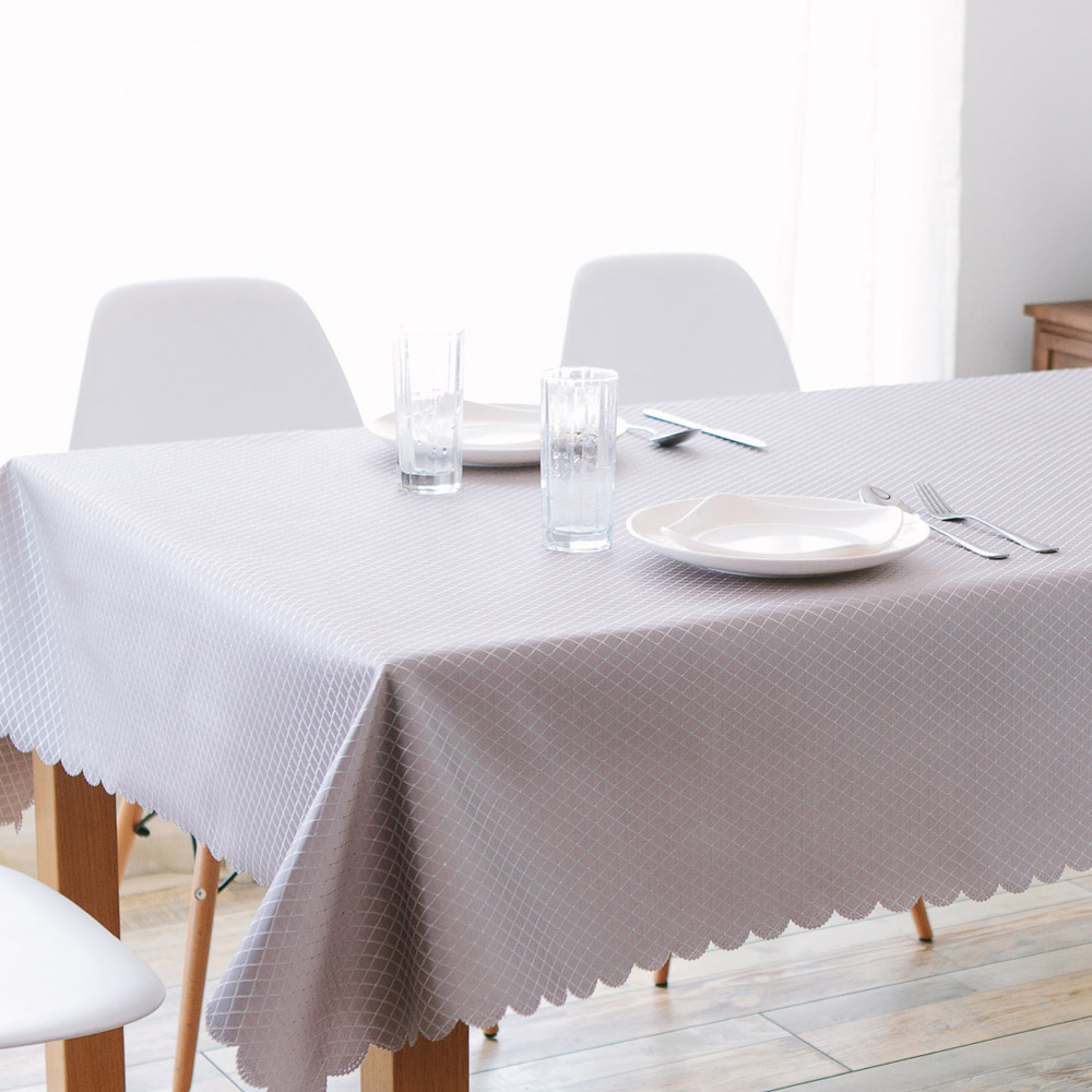 伊美居 - 晶采花邊防潑水桌巾 140cmX220cm 1件(二色可選)