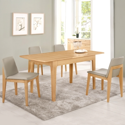 Boden-文斯多功能餐桌椅組(一桌四椅)160x81x74cm