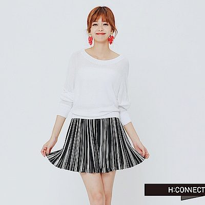 H:CONNECT 韓國品牌 女裝 -高質感透氣薄毛衣-白