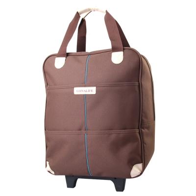 Conalife 台灣製升級版超大容量拉桿購物袋行李包 (棕色)