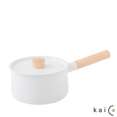 日本Kaico-琺瑯單手鍋-18cm