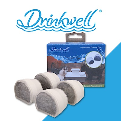 Drinkwell 好好喝 陶瓷寵物噴泉活性碳過濾網 2入/組  兩盒組