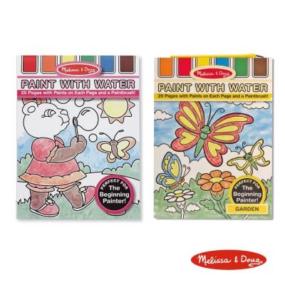 美國瑪莉莎 Melissa & Doug 水彩繪圖本組合 - 粉紅色 + 花園