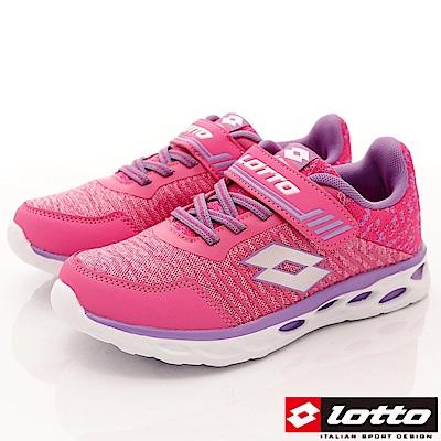 Lotto義大利運動鞋 針織彈力慢跑鞋 SI353 粉紅 (中大童段)