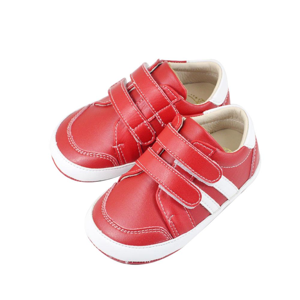 Swan天鵝童鞋-百搭皮質休閒學步鞋 1484-紅