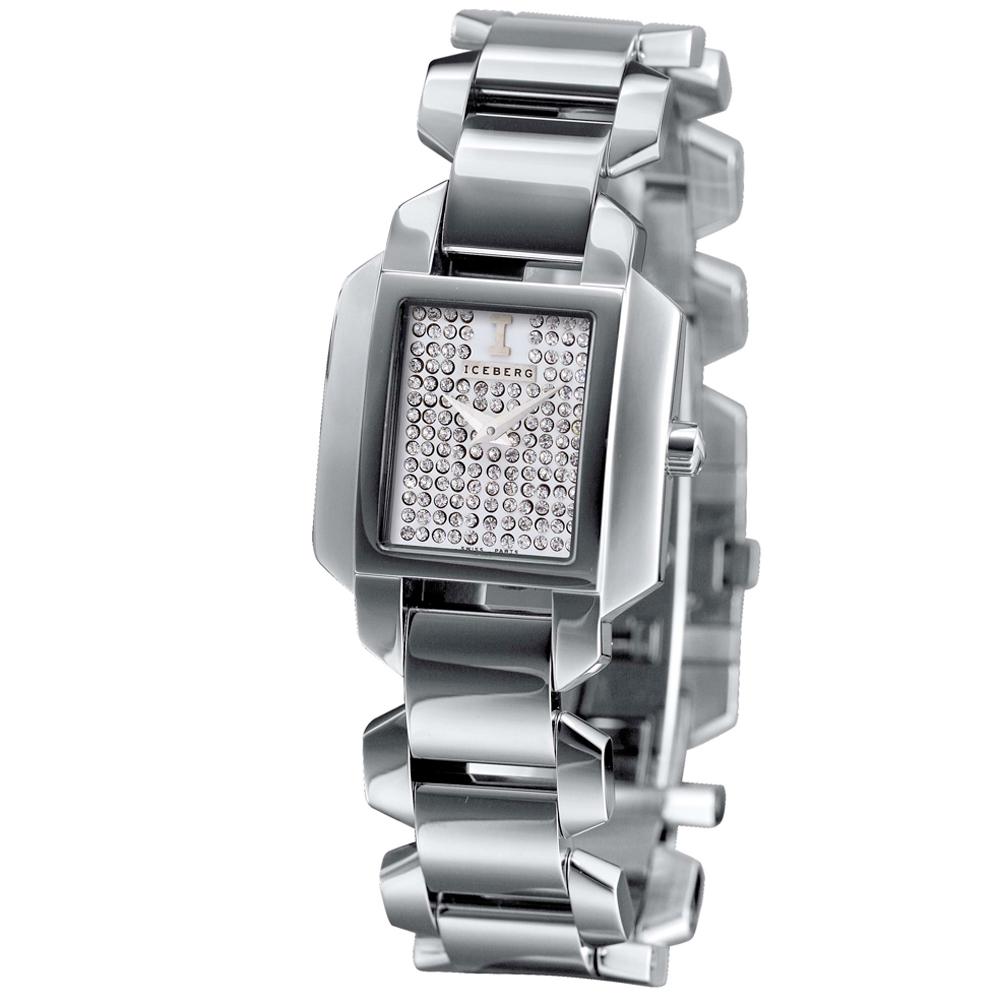 ICEBERG 愛自我光芒魅力時尚設計全鑽時尚腕錶-28mm