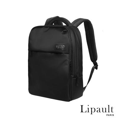法國時尚Lipault 經典筆電後背包-15吋(耀岩黑)