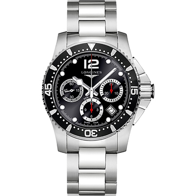 LONGINES 深海征服者300米潛水機械錶(L37444566)-黑/41mm