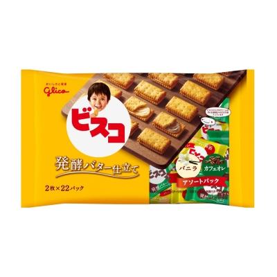 Glico格力高 奶油夾心餅乾家庭號-香草&咖啡歐蕾(190.96g)
