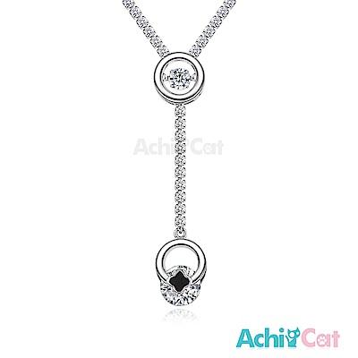AchiCat 925純銀 跳舞的項鍊 跳動幸福 跳舞石 (銀色)