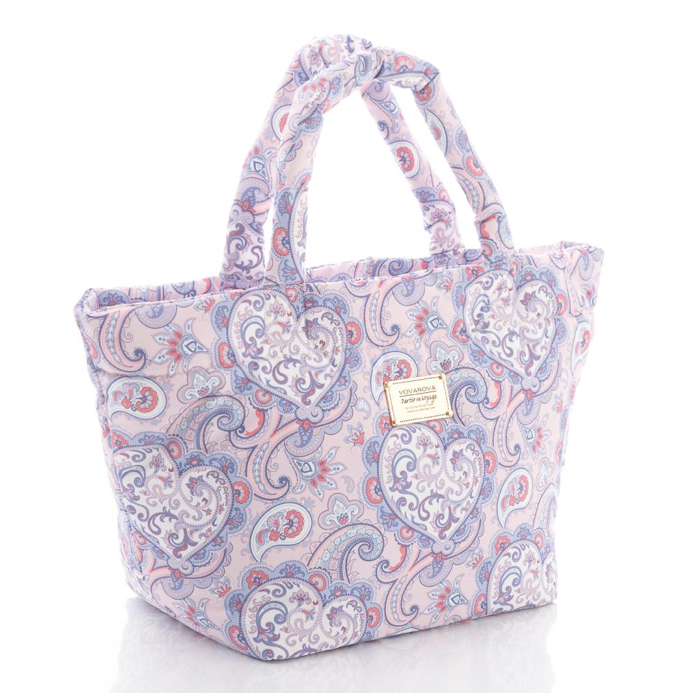 VOVAROVA空氣包-經典紋系列-佩斯利紋(紫)-手提托特包