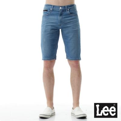 Lee 運動休閒刷色牛仔短褲/UR-男款-淺藍