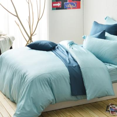 Cozy inn 極致純色-夢幻綠-300織精梳棉被套(雙人)