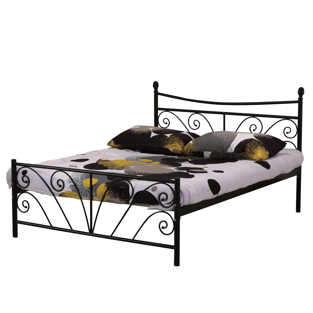AT HOME - 丹尼 5 尺黑色雙人鐵床 (154*196*110cm) (不含床墊)