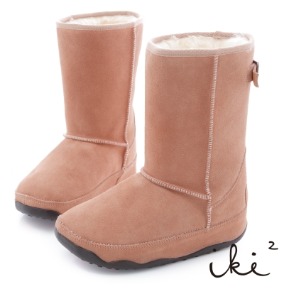 iki2網友最推薦-魅力機能性美腿長筒雪靴-甜蜜粉