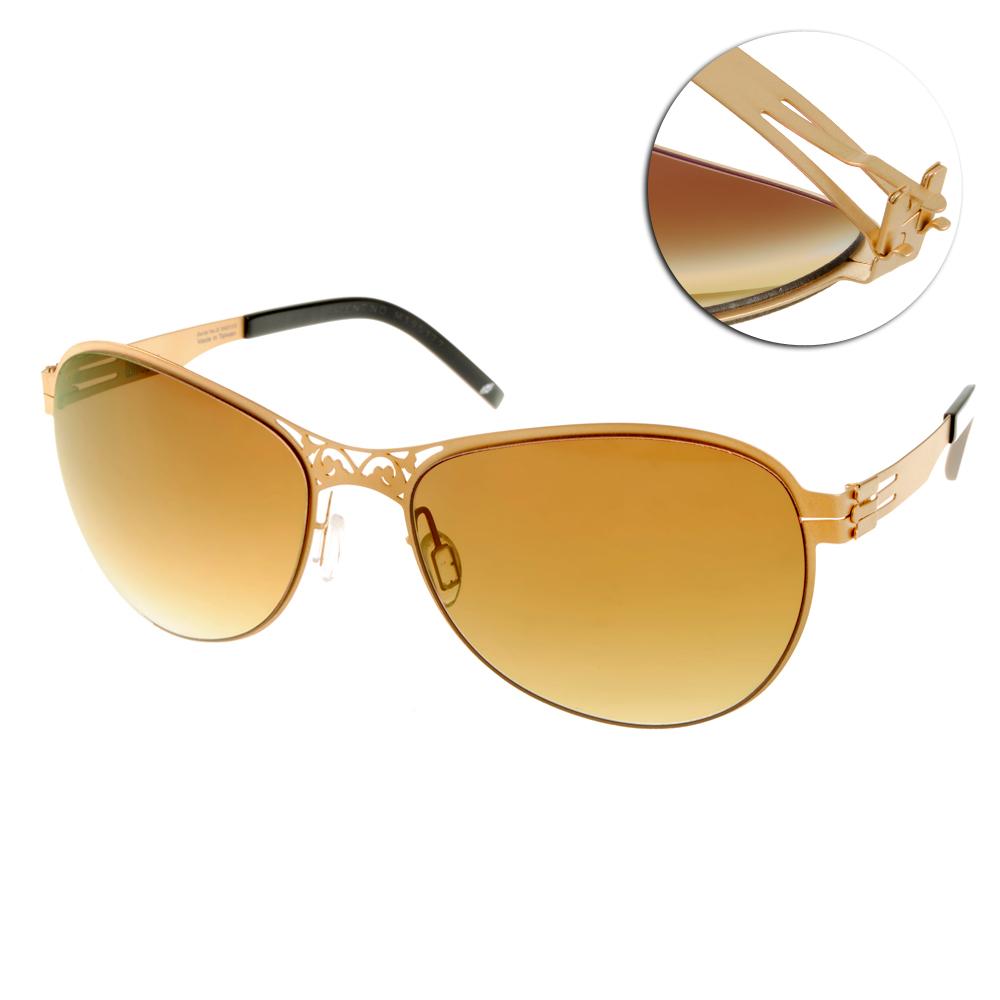 Whisper太陽眼鏡 薄翼鏡框/霧金-黑#WHM1335S C37