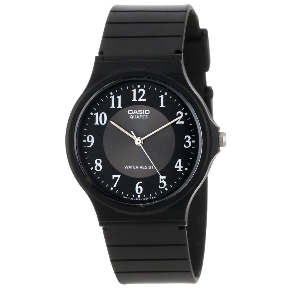 CASIO 超輕薄感數字錶(MQ-24-1b3)-(黑面銀圈)