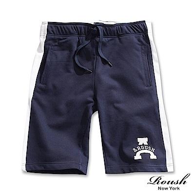 ROUSH A&ROUSH側邊配色短棉質短褲(3色)