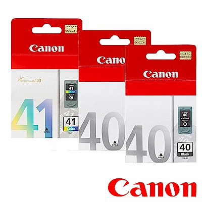 Canon PG-40+CL-41? 原廠墨水匣組合(2黑1彩)
