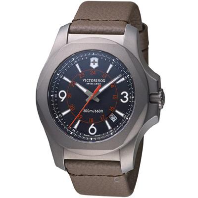 VICTORINOX SWISS ARMY 維氏I.N.O.X.鈦金屬手錶-黑/44mm