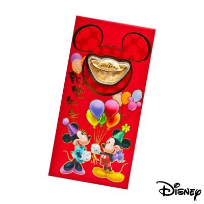 Disney迪士尼系列金飾-黃金元寶紅包袋-兩小無猜款