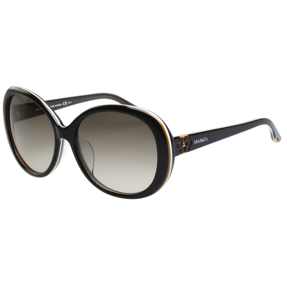 MAX&CO. 時尚太陽眼鏡 (黑配咖啡)