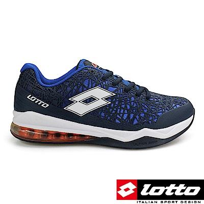 LOTTO 義大利 男 Ultra KPU 氣墊籃球鞋(藍)