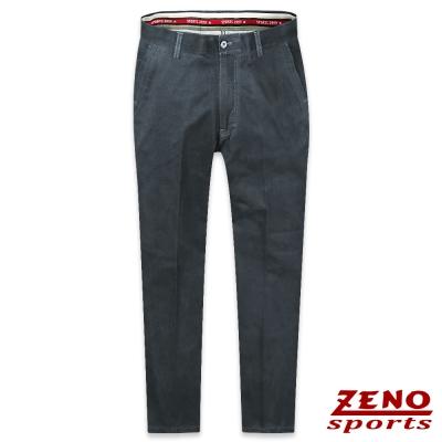 ZENO 彈力修身無摺休閒長褲‧黑藍30-42