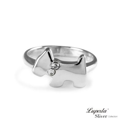 大東山珠寶 晶鑽戒指 經典雪納瑞小狗