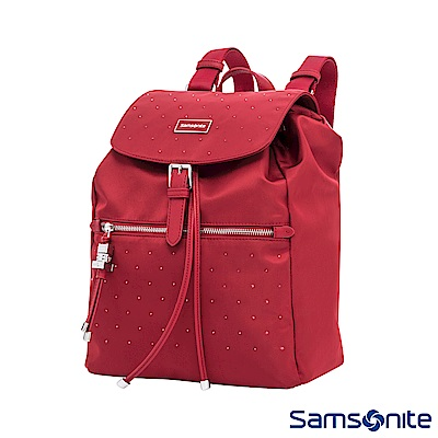 Samsonite新秀麗 璀璨水晶女用後背包(紅)