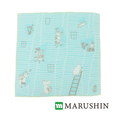 日本丸真Moomin三層紗布方巾-我的家