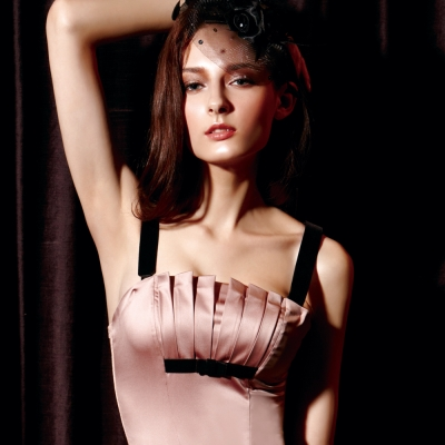 【La Felino】浪漫詩歌1/2隱鋼式罩杯款B-D罩杯馬甲 (淺粉紫)