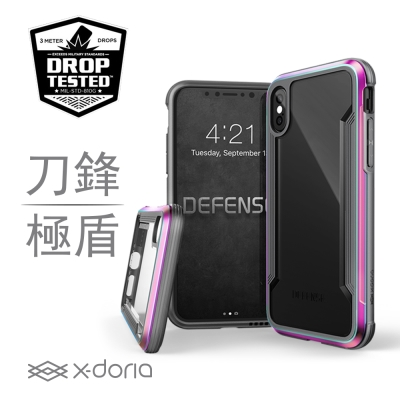 X-Doria Apple iPhone X 刀鋒極盾系列保護殼 - 繽紛虹