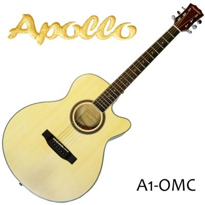 APOLLO A1-OMC 缺角民謠吉他 原木色款