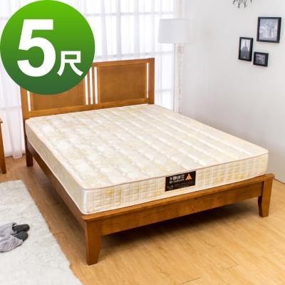 Bernice-3D透氣兩用涼席連結式彈簧床墊-5尺標準雙人