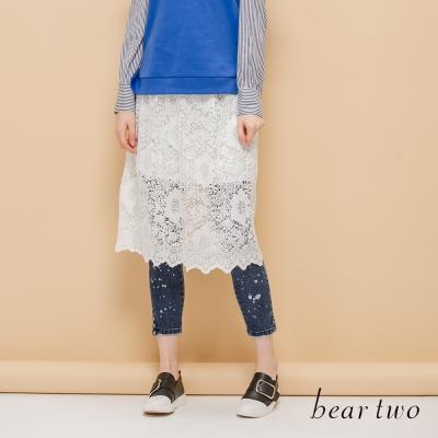 beartwo 嚴選細緻蕾絲拼接背心裙(共3色)