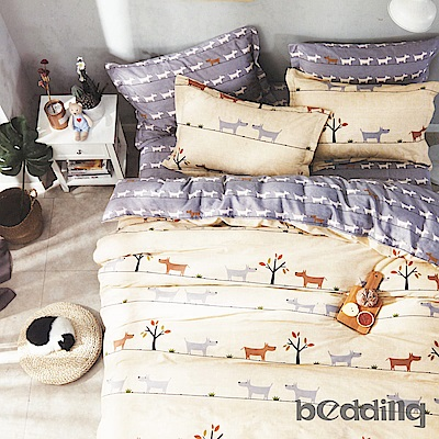 BEDDING-100%棉5尺雙人薄式床包涼被四件組-心靈驛站